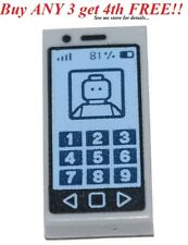 ☀️NEW LEGO CELL PHONE ~ Printed Lt Bluish Gray 1x2 Minifigure MP3 iPod Tile
