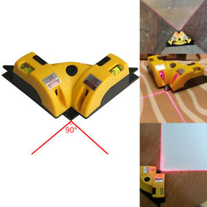 Right Angle 90° Vertical Horizontal Laser Line Projection Square Level Tools