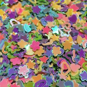 Glitter Confetti (3.5 oz) Designs: Hearts, Stars, Flowers, & more! for Manicure