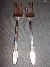 "2 TWO Oneida Spring Rose Salad Dessert Forks Fork 6 3/4"" Community Stainless"