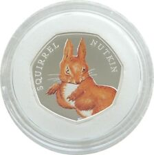 2016 Beatrix Potter Squirrel Nutkin 50p Fifty Pence Silver Proof Coin Box Coa