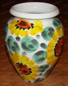 Heavy Pottery SUNFLOWER Medley Vase, 10 3/8in. tall - Pier 1 Imports, Italy