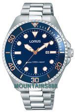 RJ233BX-9,LORUS Watch, LUMIBRITE-Hands&Marks, BlueDial, Date,St/Steel,WR100,Mens