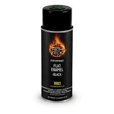 HIGH TECK Flat Black Enamel Automotive Spray Paint - 12 oz.  #9903
