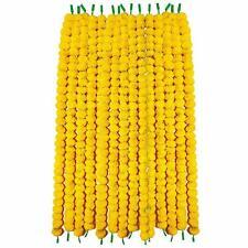 Marigold Artificial Flower Garland Set of 5 Pcs Wedding Decoration 5 Feet Long