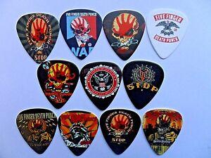 5FDP FIVE FINGER DEATH PUNCH  Guitar Pick // Plectrum Necklace  TWELVE To Choose