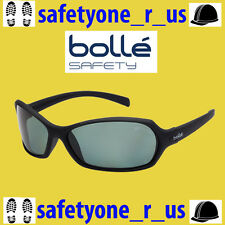Bolle Safety Glasses - Hurricane - Black Frame - Green Polarised Lens w/ pouch
