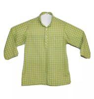Philadelphian Collar The Villager Women's Long Sleeve Check Shirt Size 12