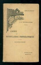 NIEWENGLOWSKI CHIMIE DES MANIPULATIONS PHOTOGRAPHIQUES GAUTHIER VILLARS MASSON