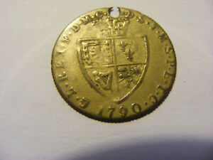 A 1790 George III Spade Gaming Token - nice condition but holed - 25mm