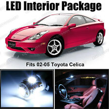 6 x Premium Xenon White LED Lights Interior Package Deal Toyota Celica + Tool