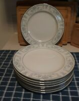"(4) Vintage Sheffield Blue Whisper 10.5"" Dinner Plates Set.. New Old Stock MINT!"