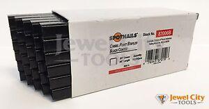 "Spotnails 87006B 22 Gauge Black Coated Upholstery Staples 3/8"" crown 3/8"" Long"