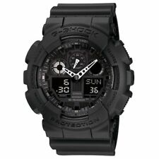 Casio G-Shock GA100-1A1 Black Analog Digital Dial Black Resin Band Men Watch NEW