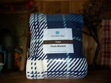 COMFORT BAY TWIN PLUSH BLANKET BLUE WHITE 66 X 90 INCHES SOFT CHRISTMAS GIFT NEW