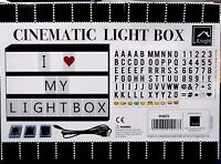Light Up Your Life A4 Cinematic Light Box Sign with Emoji Cinema
