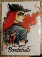 Batwoman DC Comics Bombshells AP SketchCard Illustrator Plinio Pinto Cryptozoic