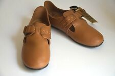 Mooi Mini Japan Boutique Shop Girls Shoes Size 3 (Jpn 21) Real Leather Brown NEW