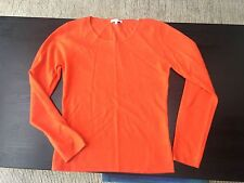 Ns Cashmere, jersey de cachemir, naranja, nuevo, cuello redondo, talla 38 (dt).