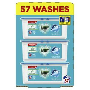 Fairy Non Bio Pods Washing Liquid Capsules for Sensitive Skin XXL Pack 57 Washes