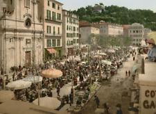 Nice. Le marché. PZ vintage photochromie photochromie, vintage photochrome