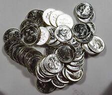 1962,1962-D GEM BU Roosevelt Dime rolls 1 each 50 coins per roll
