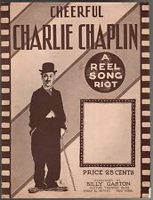 Cheerful Charlie Chaplin 1915 Large Format Sheet Music