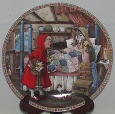 Edwin Knowles Once Upon A Time Collector Plate (1988) Little Red Riding Hood