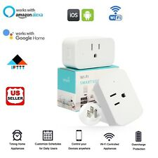 Wifi Smart Plug Outlet Timer Socket For Echo Alexa Google Home Remote Control US
