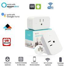 Wifi Smart Plug Outlet Timer Socket For Echo Alexa Google Home Remote Control Us