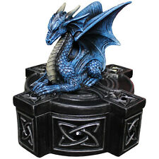 ANNE STOKES DRAGON CROSS FANTASY POLYRESIN JEWELLERY TRINKET BOX HOME DECOR