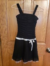 Philly Black dress with white belt line girls size 10