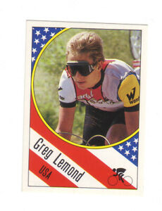 GREG LEMOND ROOKIE CARD 1986 PANINI 3 WINS TOUR DE FRANCE 2 WINS WORLD CHAMPION