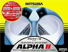 MITSUBA alpha II white car Horn MBW-2E17W New Japan Free shipping w/Tracking#