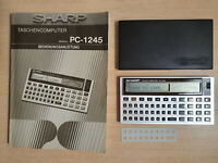SHARP PC-1245 Pocket Computer, BASIC Calculator, Taschenrechner #754