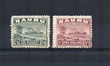 More details for nauru 1924-34 2s 6d and 5s fu cds