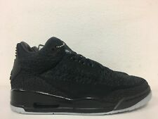 new styles 11751 3a066 Nike Air Jordan 3 Retro Flyknit Black Anthracite AQ1005 001 Mens Size 10