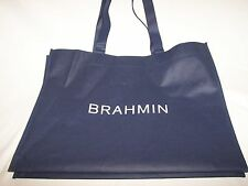 "BRAND NEW BRAHMIN DUST BAG TOTE WITH HANDLES NAVY WITH WHITE LOGO 20""x 16"" x 18"""