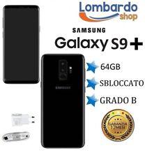 SAMSUNG GALAXY S9 PLUS 64GB GRADO B NERO BLACK DUAL SIM RICONDIZIONATO GARANZIA