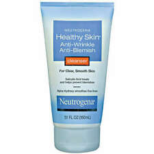 New Neutrogena Healthy Skin Anti-Wrinkle Anti-Blemish Cleanser 5.1 oz Exp 7/18