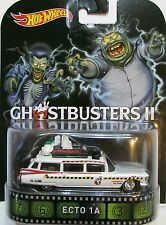 Hot Wheels GHOSTBUSTERS II ECTO 1A Retro Cazafantasmas  Cadillac1959 Ambulancia