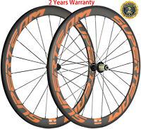 50mm Carbon Wheels Road Bike Clincher Bicycle Wheelset 700C 3K Matte Shimano Hub