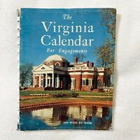 "1959 Week-by-Week ""The Virginia Calendar for Engagements"" by Samuel Chamberlain"