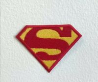 Superman S Badge cartoon movie Embroidered Iron Sew on Patch j012b