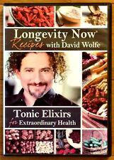 LONGEVITY NOW RECIPES with David Wolfe DVD Tonic Elixirs 4 Extraordinary Health!