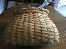 Custom Made Fishing Creel/Basket, leather shoulder strap, unique wood attachment