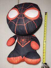 "NWT Marvel Comics Spider-Man Miles Morales 18"" Super Soft Plush w/Oversized Head"