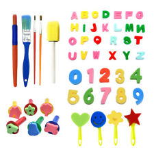 Sponge Painting Brushes Early Learning Art Painting Tool Set for Toddler Kid