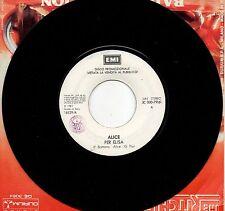 ALICE BOBBY SOLO disco 45 g PROMO Juke Box ITALY Per Elisa FRANCO BATTIATO