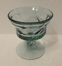 ELEGANT  FOSTORIA  JAMESTOWN  GREEN  FOOTED SHERBET GLASS  4 3/4 INCHES